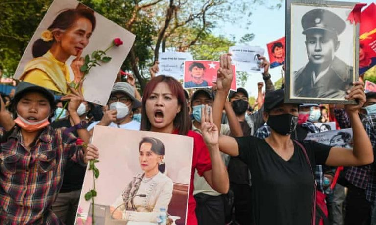 Anak dari Jaksa Agung Myanmar, dikejar Demonstran.