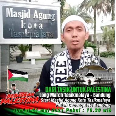 Longmarch dari Tasikmalaya ke Bandung untuk Palestina.